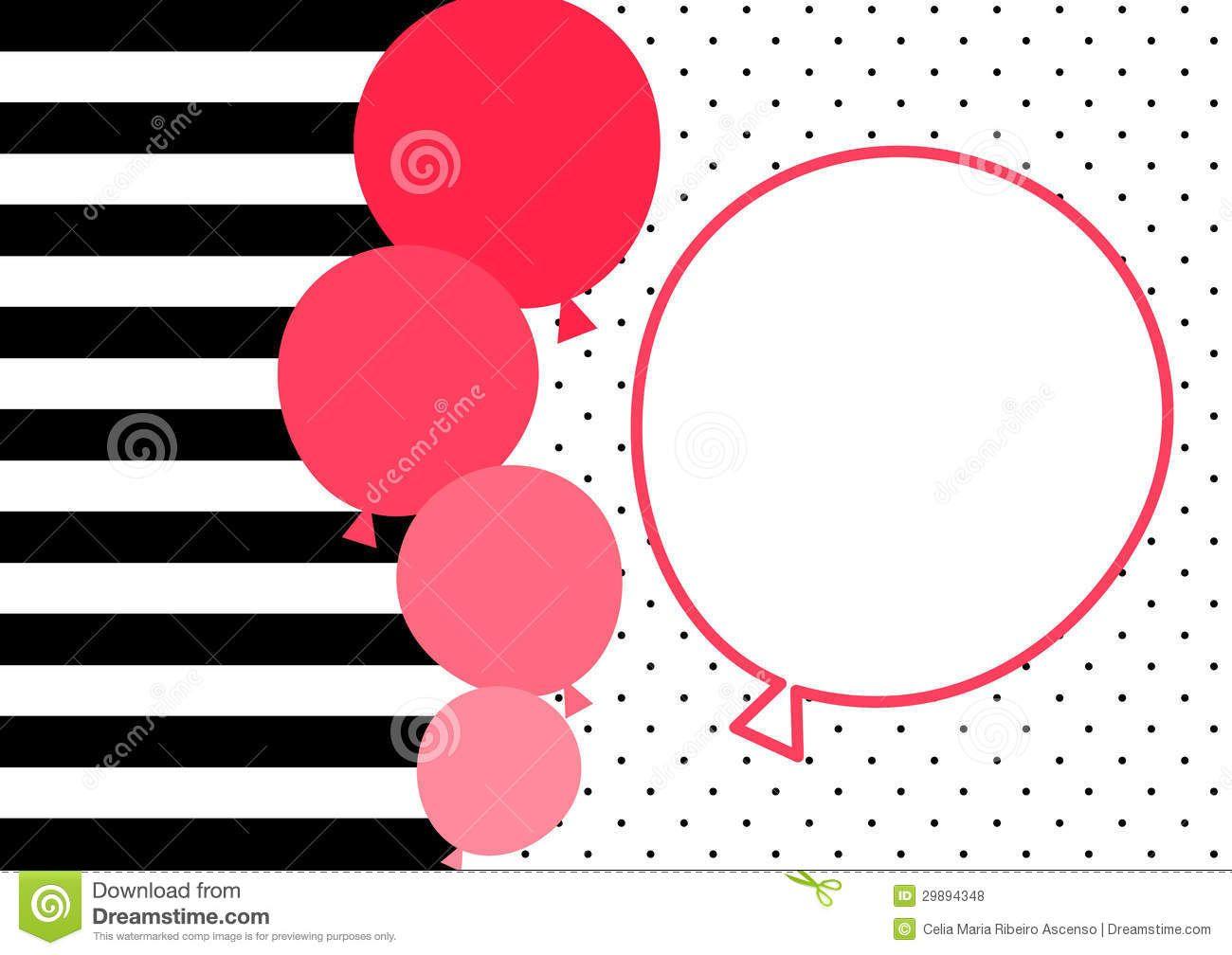 globos-y-marco-del-globo-para-escribir-el-mensaje-fondo-rayado-y-del ...