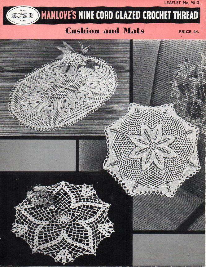 Vintage Knitting Crochet Pattern Pdf Crochet Doily Knitted Lace