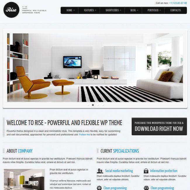 RISE – Premium WordPress Theme   Premium Wordpress Themes - Nice ...
