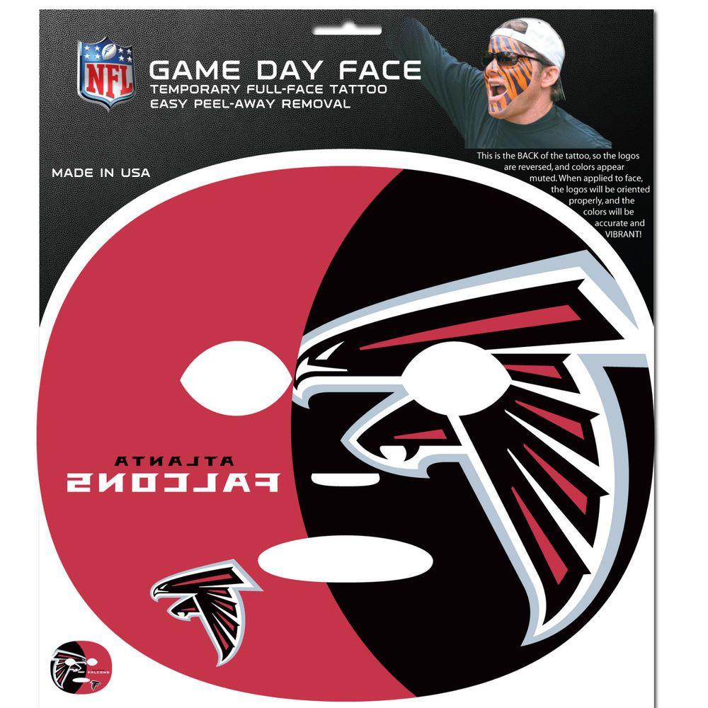 Nfl Atlanta Falcons Game Day Face Full Temporary Tattoo Decal Football Siskiyougifts Atlantafalcons Atlanta Falcons Quotes Atlanta Falcons Game Atlanta