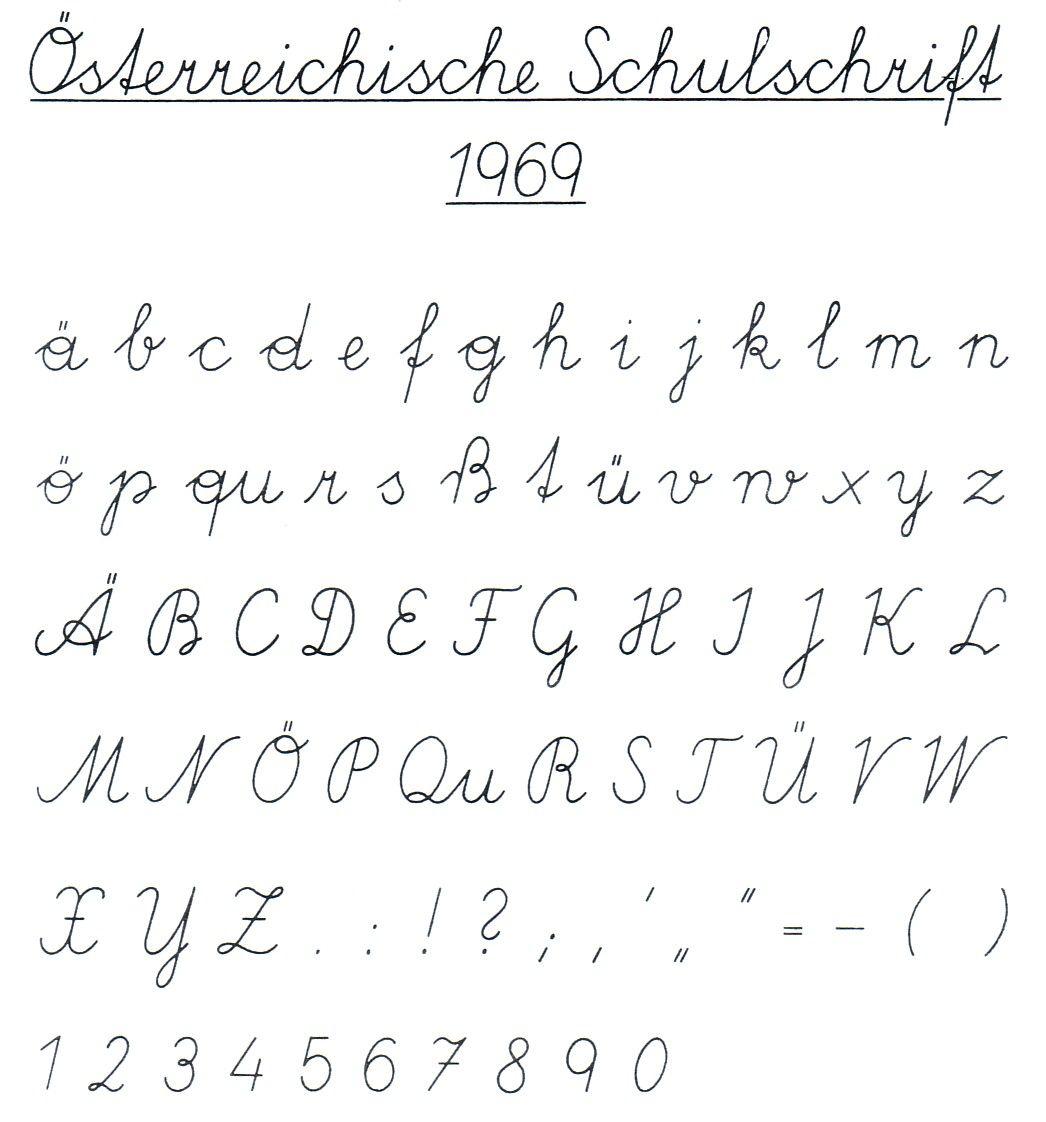 österreichische schulschrift