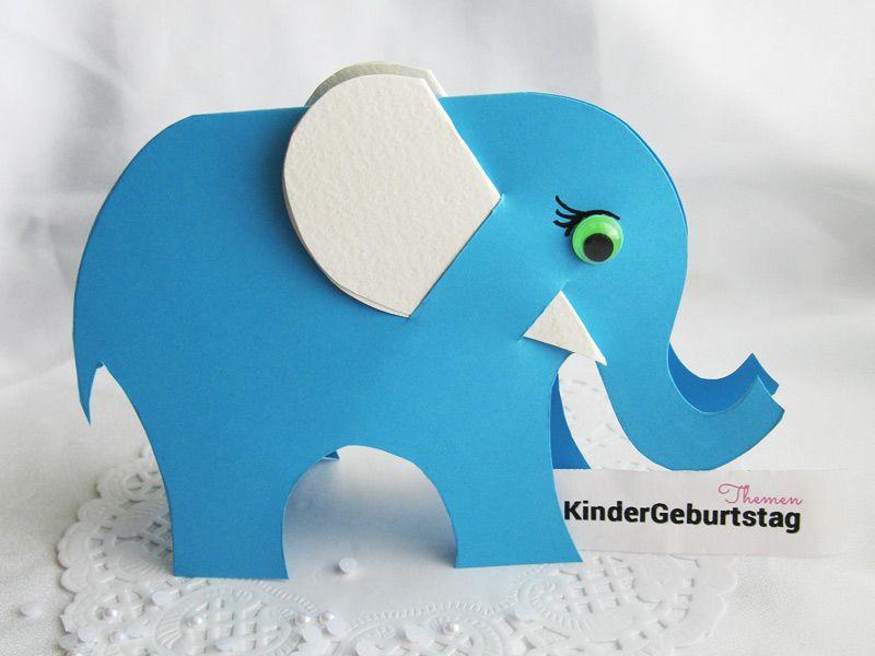 elefant basteln aus papier: anleitung und vorlage für die kinder, Kreative einladungen