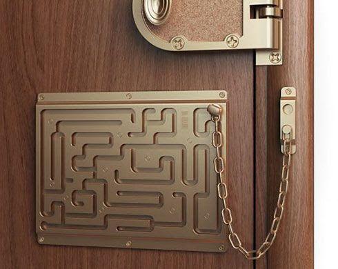 Maze Door Lock Door Chains Funny Cool Stuff