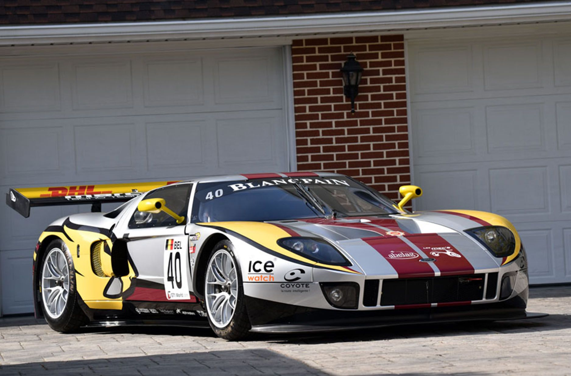Image For Matech Ford Gt1 Race Car Desktop Wallpaper Ford Gt Ford Racing Race Cars