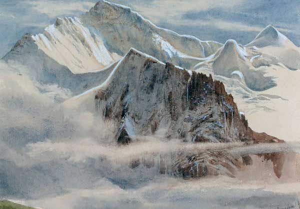 Edward theodore compton view of the jungfrau gr ezi for Innendekoration engadin