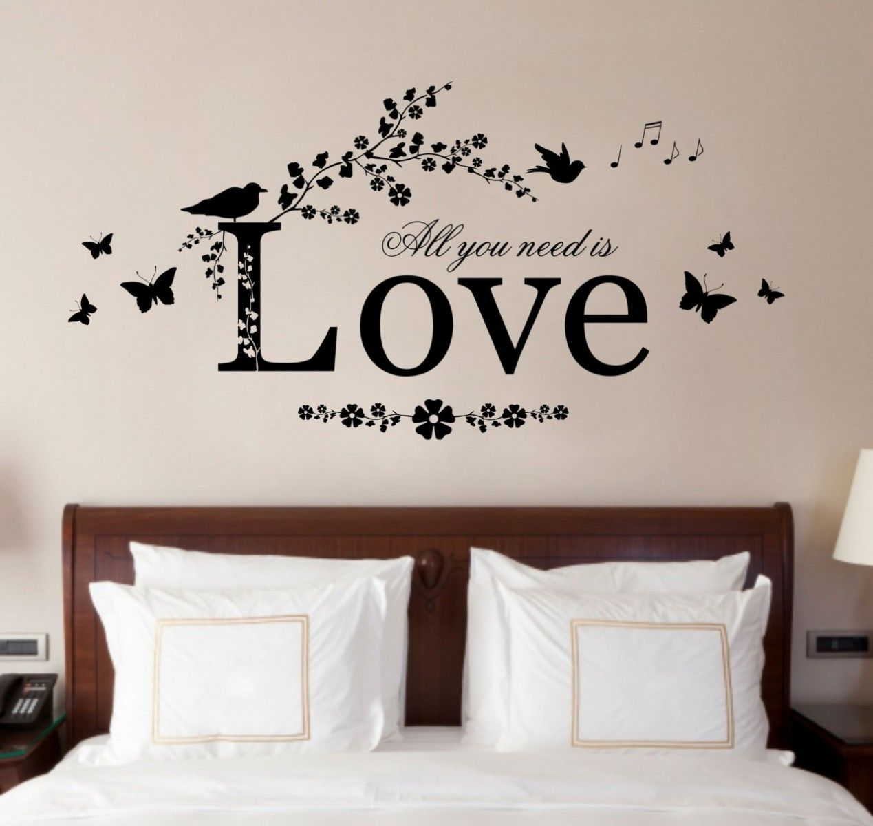 Romantic Bedroom Wall Decals romantic wall sticker for bedrooms - give a touch of creativity to