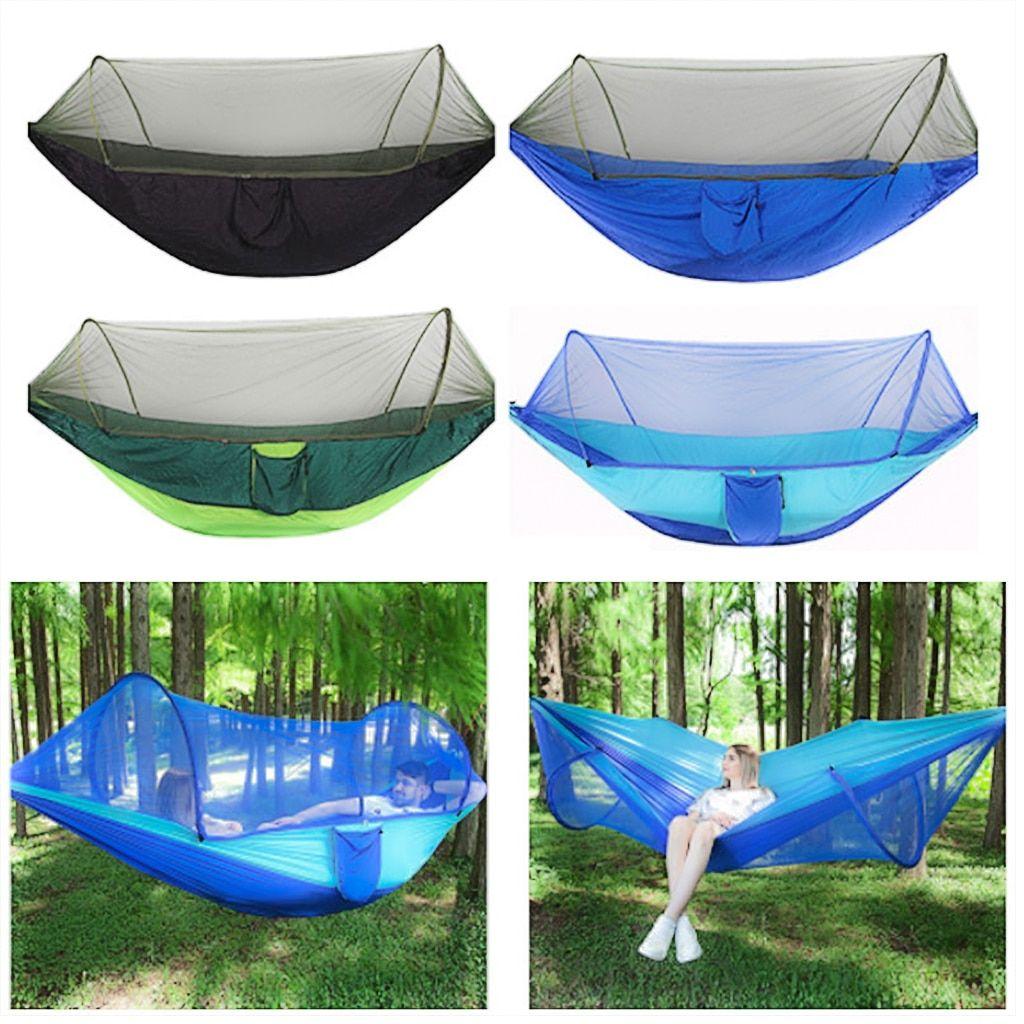 Outdoor Travel Mosquito Net Parachute Hammock Hanging