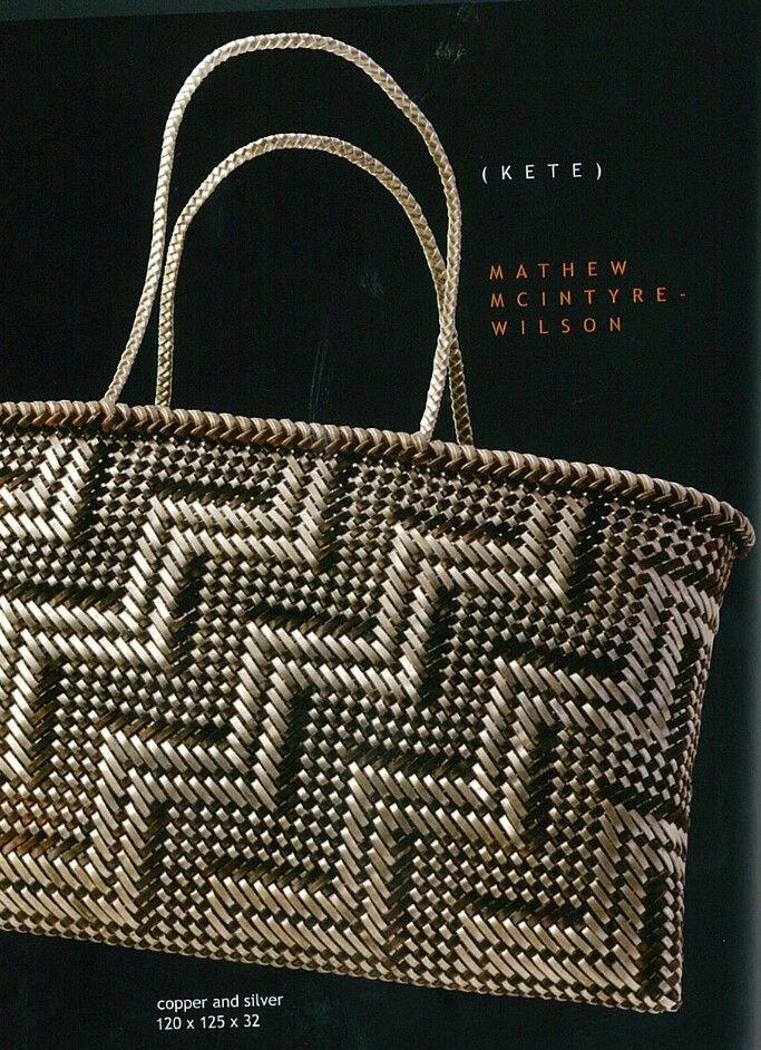Basket Weaving New Zealand : Matthew mcintyre wilson copper and silver kete raranga
