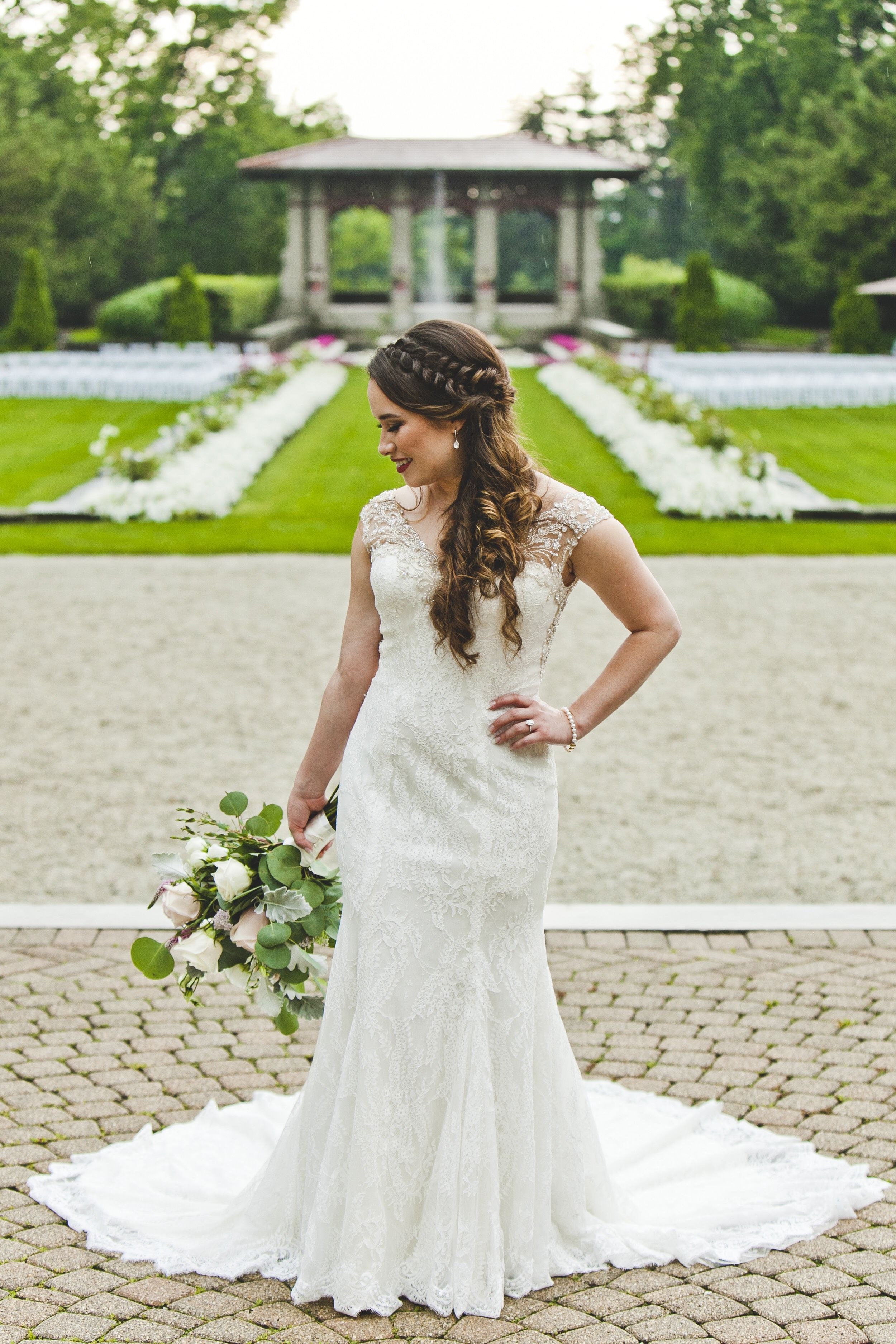 gorgeous dutch braided wedding hairstyle featuring an elegant half ...