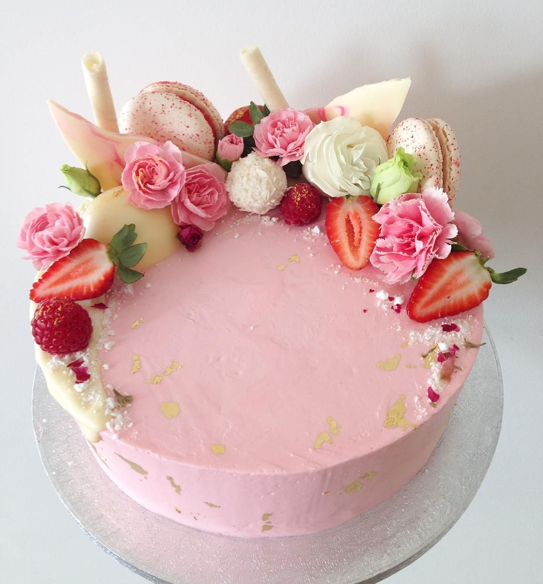 He Request Was Pink Coconut Raspberry Cake With Coconut