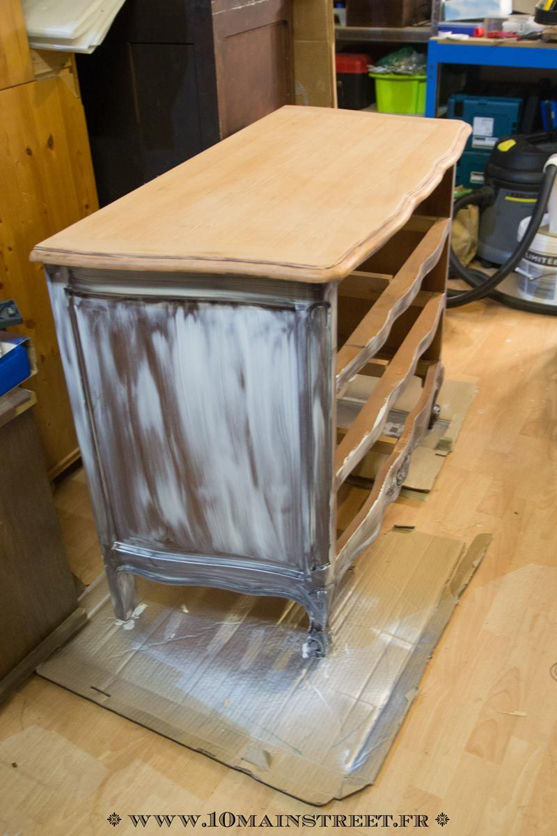 relooking raffin pour une commode en merisier verni des ann es 1970 meubles pinterest. Black Bedroom Furniture Sets. Home Design Ideas