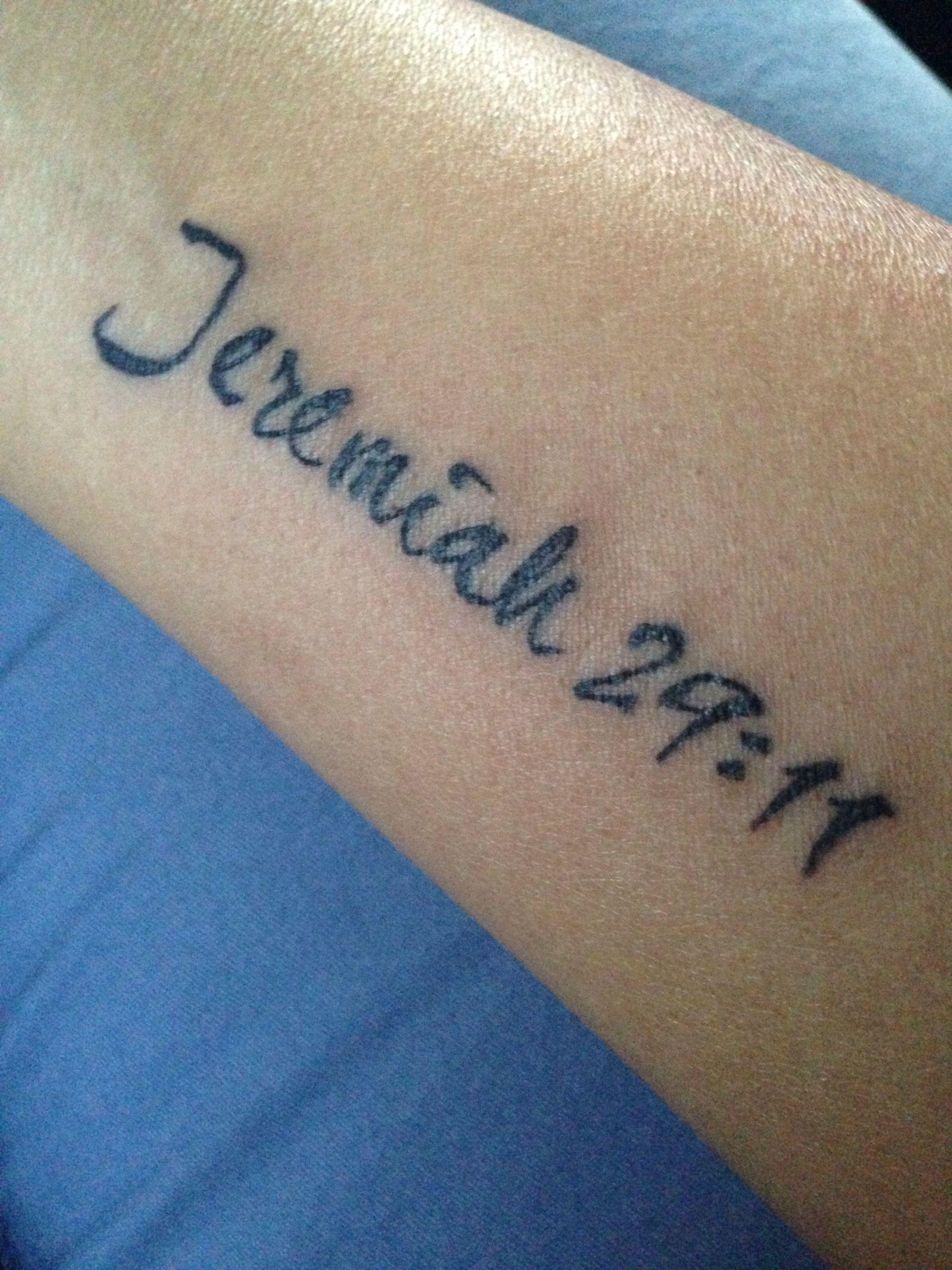 Jeremiah 2911 Tattoo Tattoo Ideas Tattoos Piercings Tatting