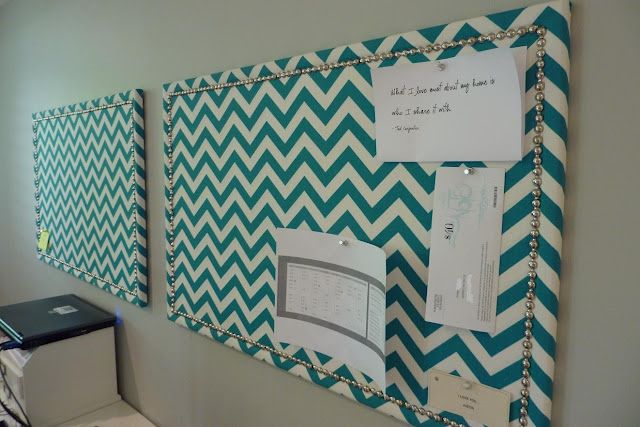 Fabric Covered Cork Board!