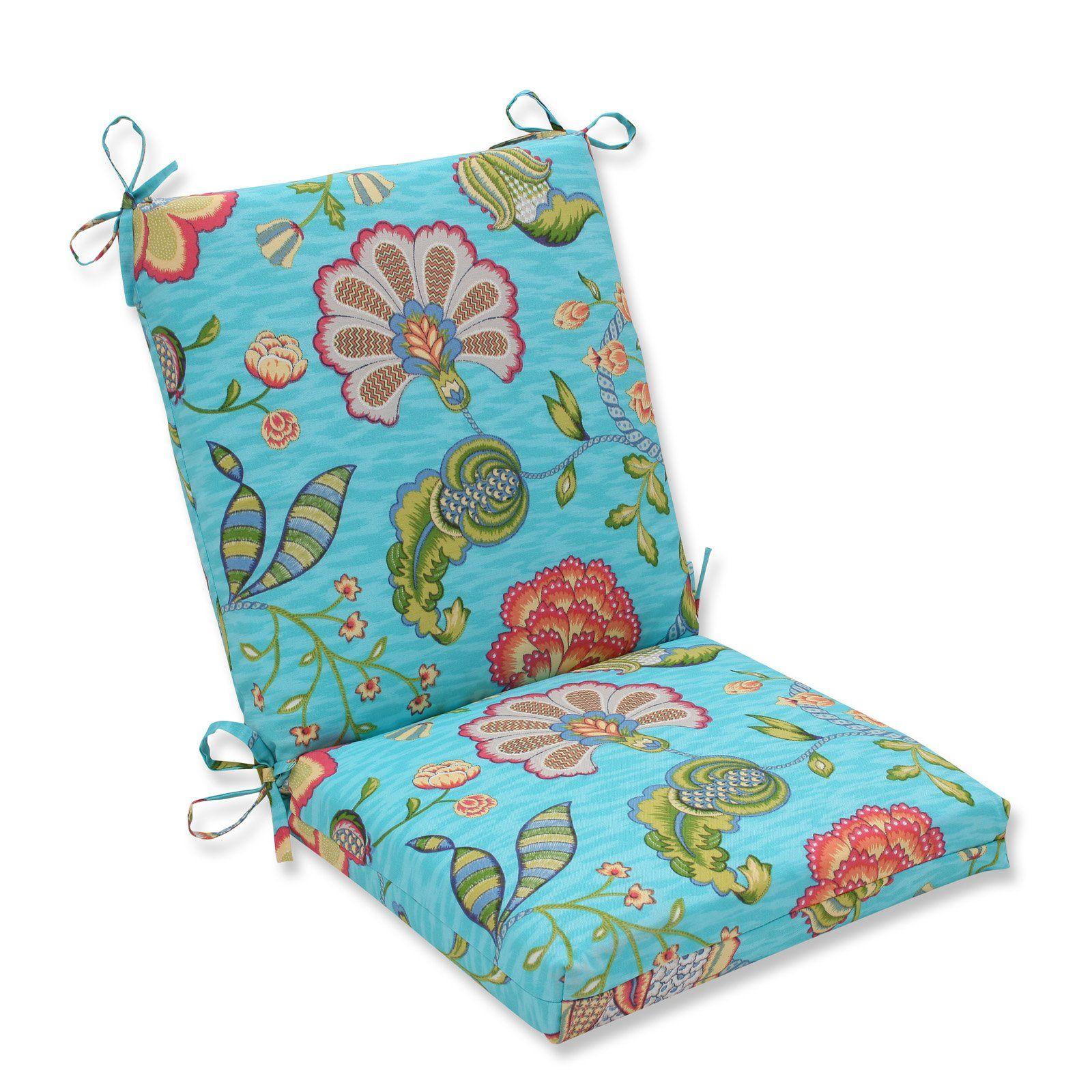 Pillow Perfect Arabella Hinged Squared Corners Chair Cushion