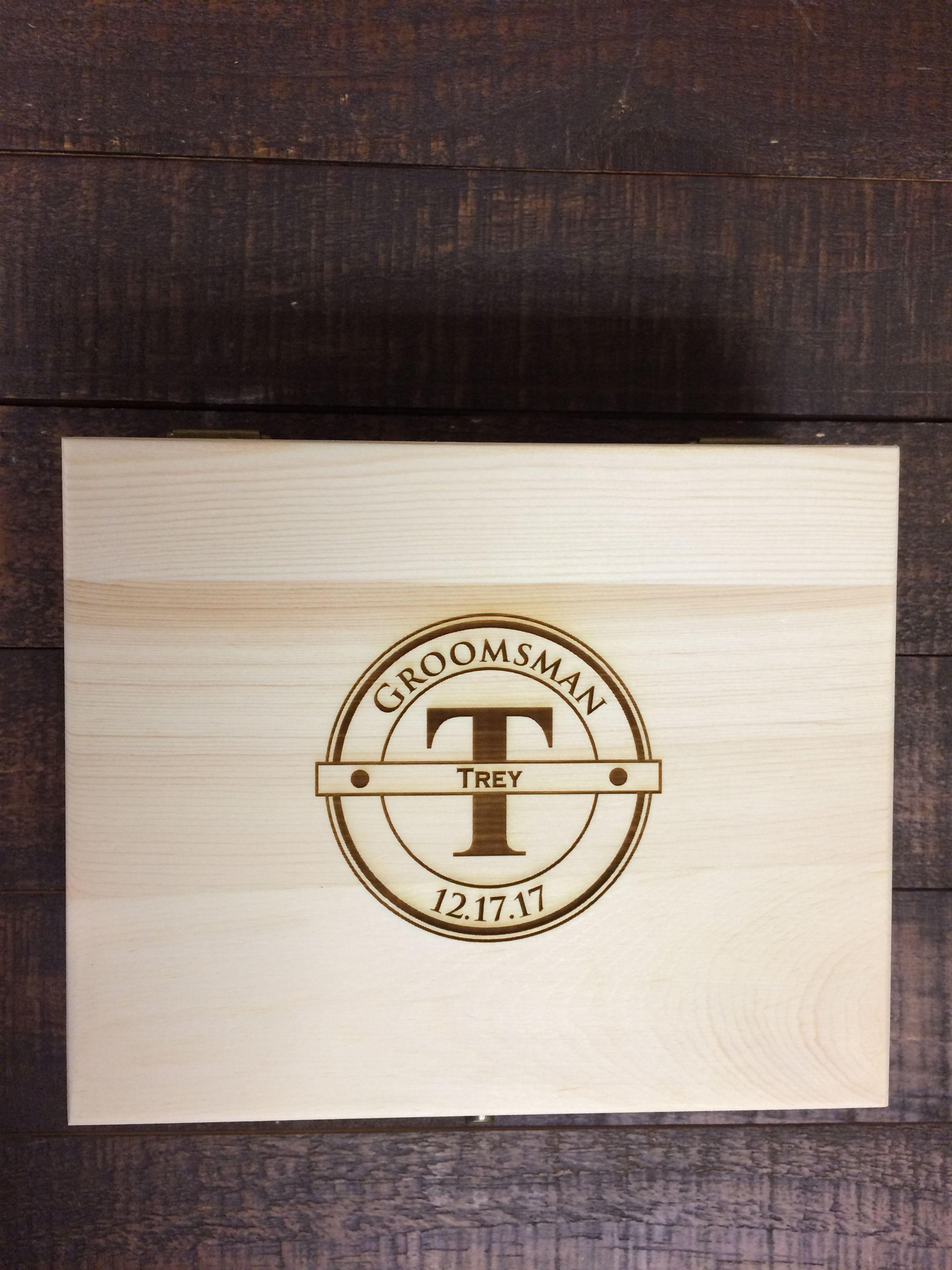 Engraved Wooden Box - Perfect Keepsake For Your Groomsmen Groomsmen Flask, Best Groomsmen Gifts,
