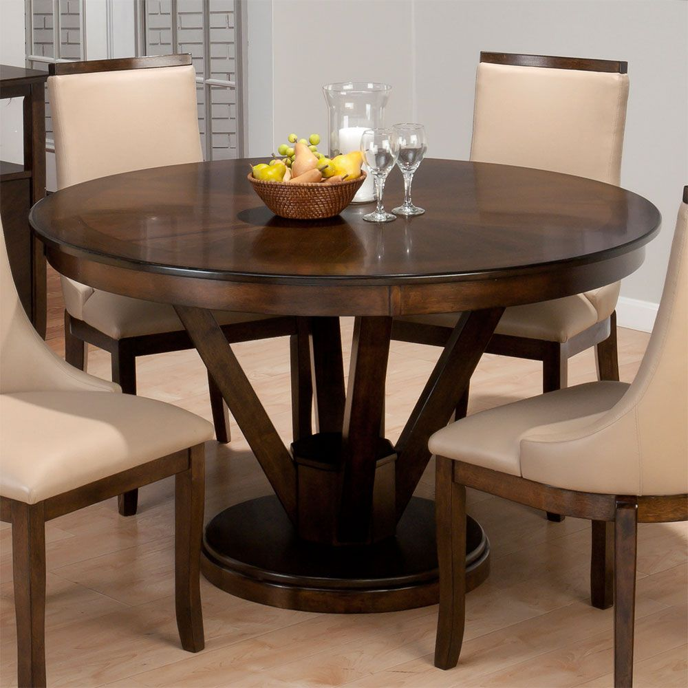 Round Glass Dining Table 42 Inches Dengan Gambar Eksterior