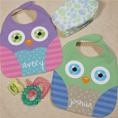 Personalized owl baby bib owl bib for girls and boys baby shop for personalized baby bibs at giftsforyounow the most unique baby gifts including this owl baby bib the expectant mom on your shopping list will negle Choice Image