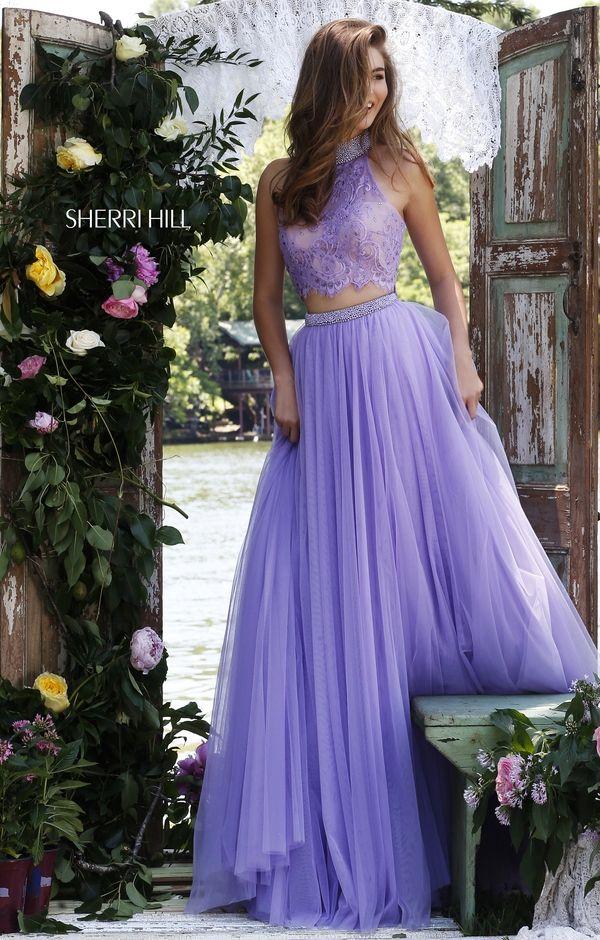 Purple Sherri Hill Prom Dresses
