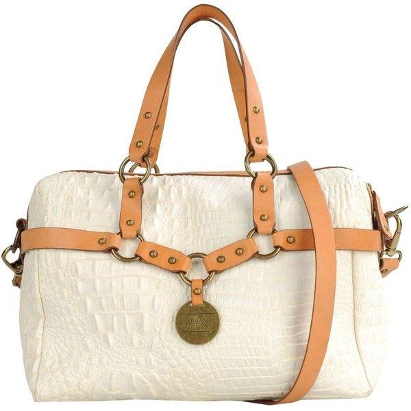 ARMANI COLLEZIONI Large leather bag ($375) ❤ liked on Polyvore