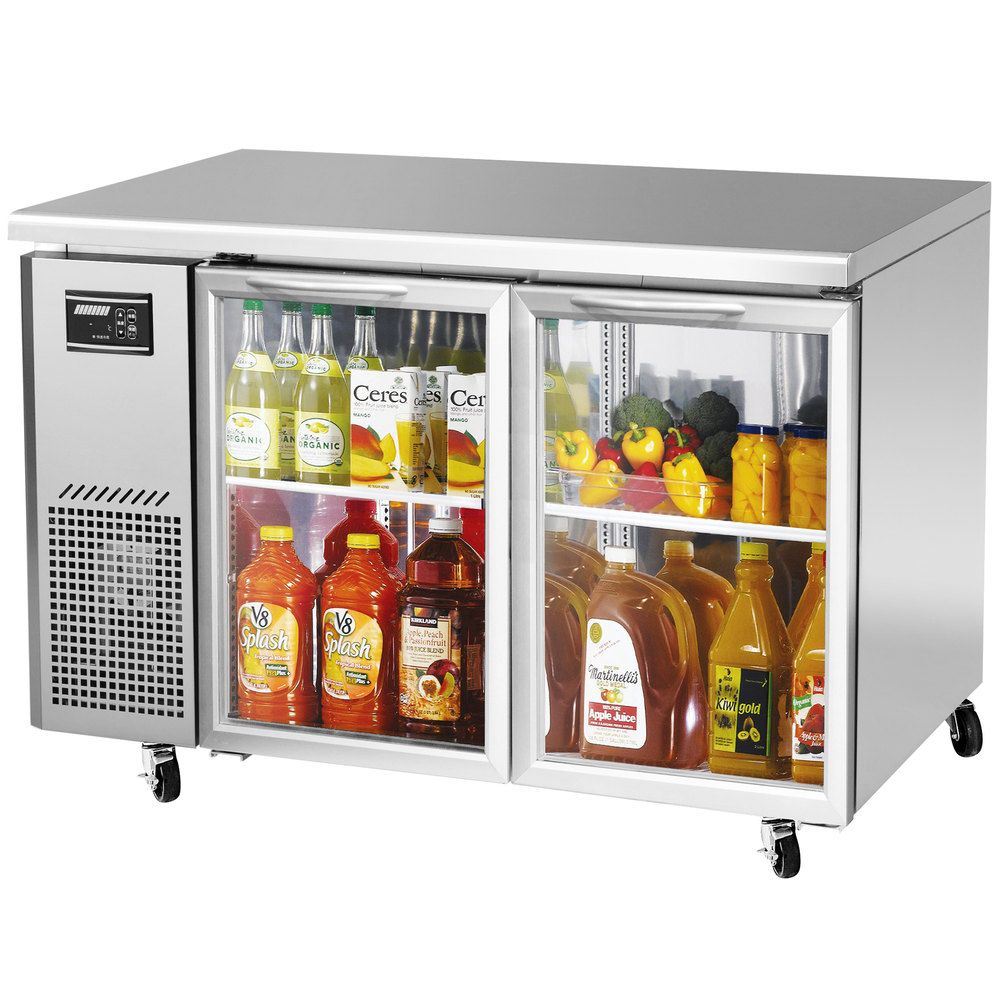 "Turbo Air JUR48GN J Series 48"" Glass Door Undercounter"