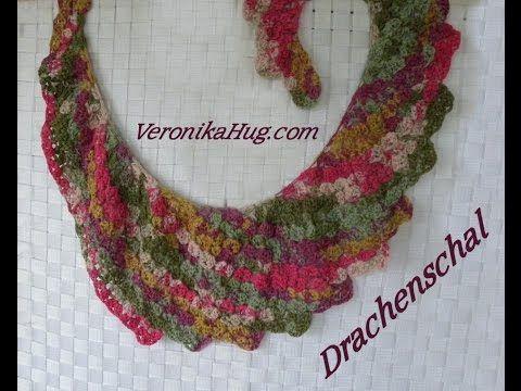 Häkeln- Drachenschal SANREMO - Woolly Hugs BANDY 04 - Veronika Hug ...