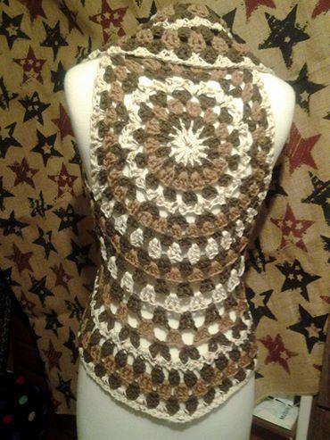 Bolero Corset (lace-up) Vest crochet pattern-fits women\'s sizes 5/6 ...