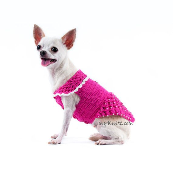 Pink Dog Harness Dress, Puppy Harness Girl, Chihuahua Clothes Pink ...