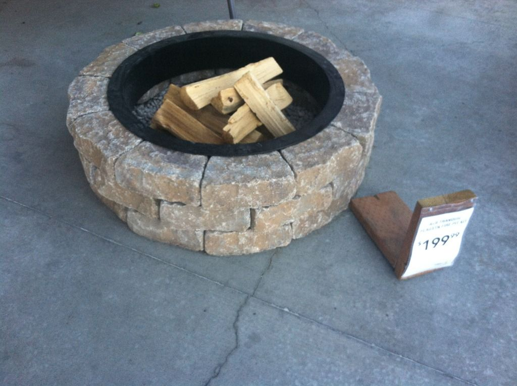 Lowes fire pit kit 199  Outdoors  Fire pit designs