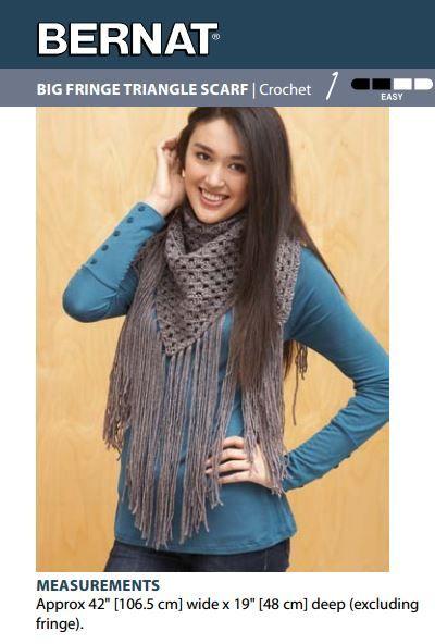 Big Fringe Triangle Scarf   Crochet