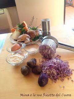 Mina e le sue Ricette del Cuore: Gnocchi di patate viola con funghi, zucca e pancet...