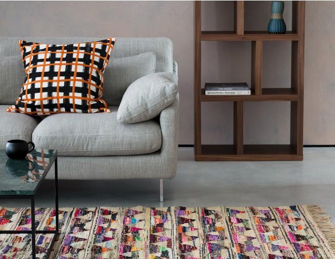 Cuscino Dark Grey Velvet Right Arm Corner Sofa