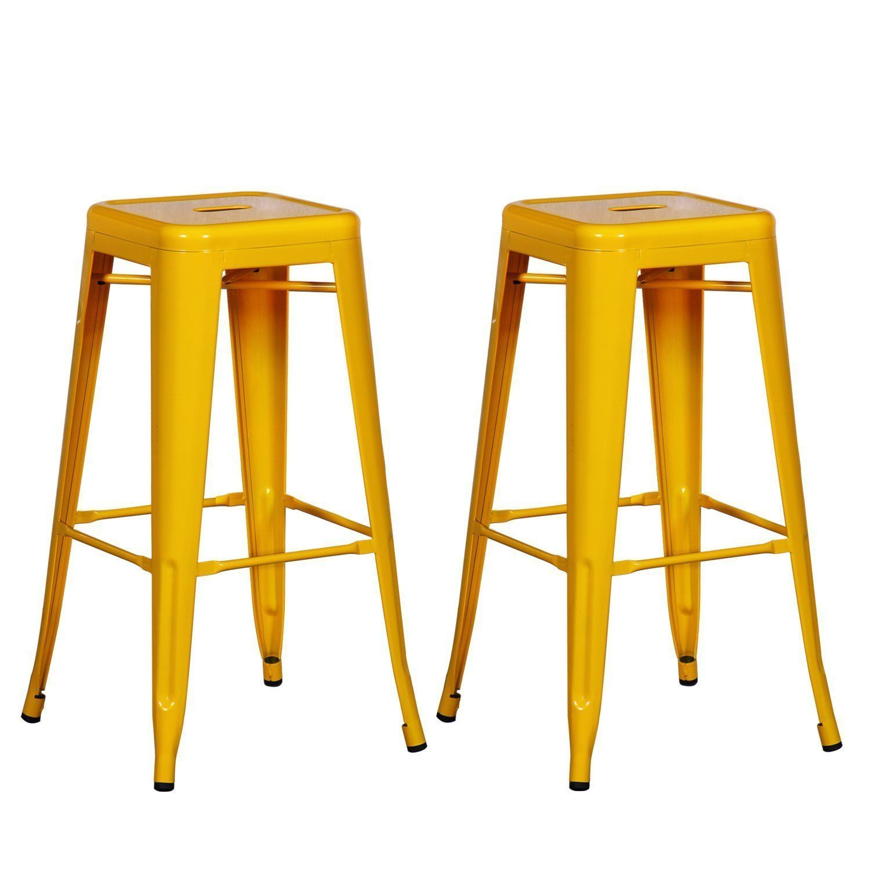 Pop Of Color Stackable Metal Bar Stools Bar Stools Iron Bar Stools