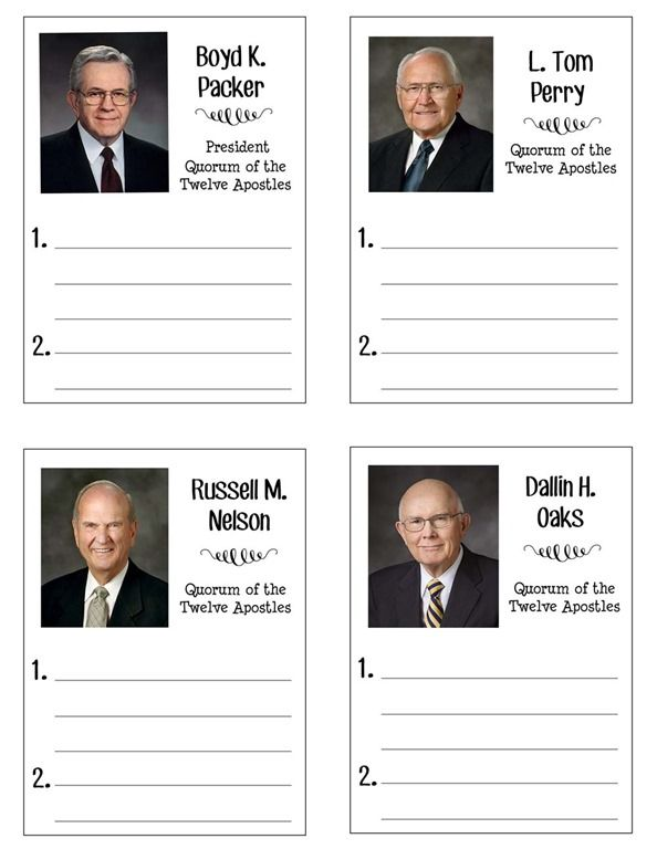 General Conference Packet For School Age Kids Over The Big Moon