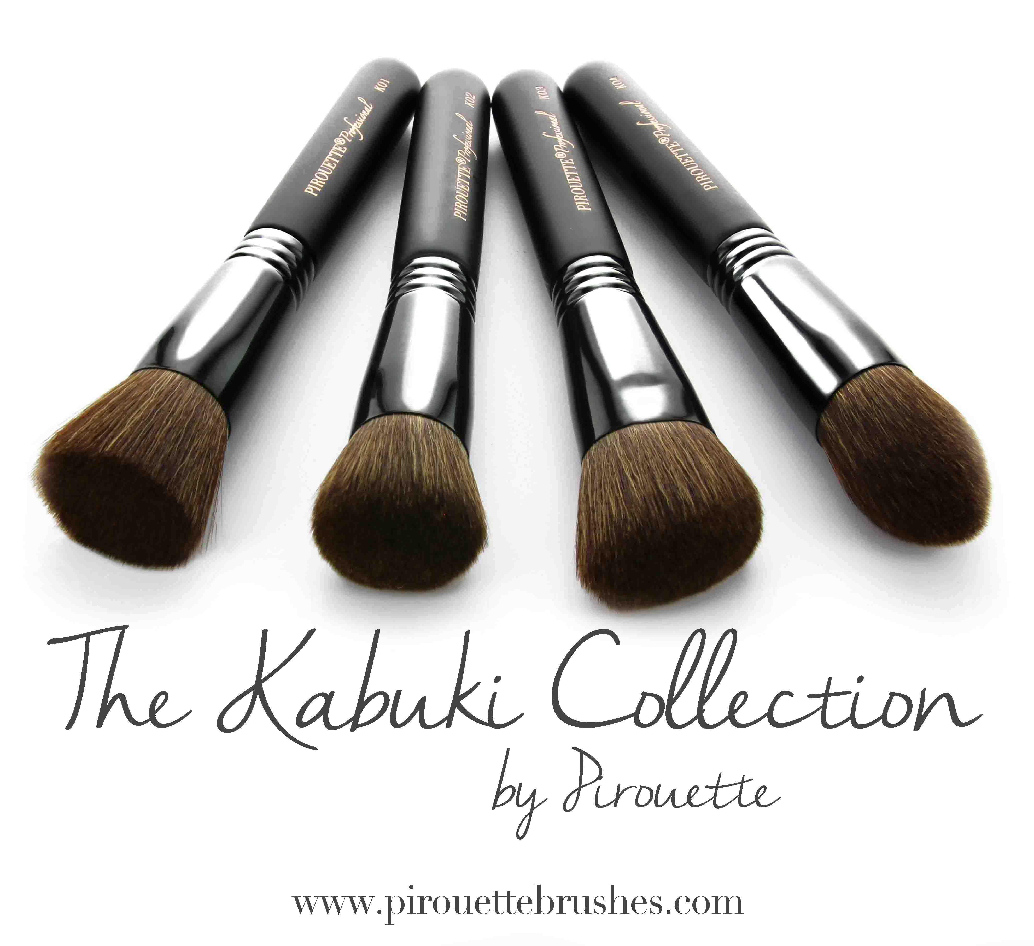 Pirouette Professional Kabuki Brush Collection Kabuki