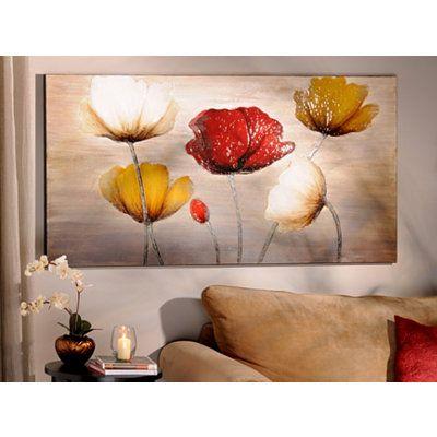 Poppy profusion canvas painting cuadros para copiar - Cuadros murales para pared ...