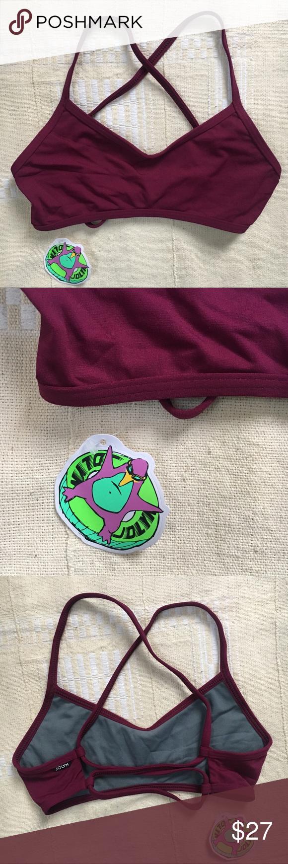 Nwt jolyn xavier fixed back bikini top cabernet xs brand new with tags grayson also my posh rh pinterest