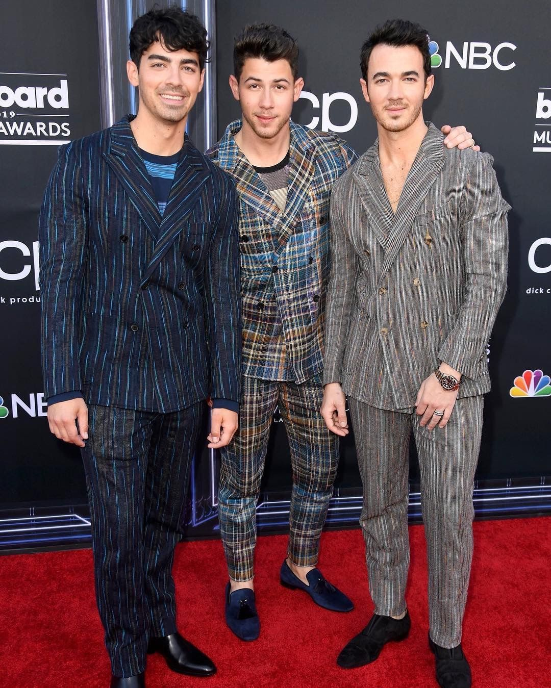 Jonas Brothers At Billboard Music Awards 2019 Wear SS19