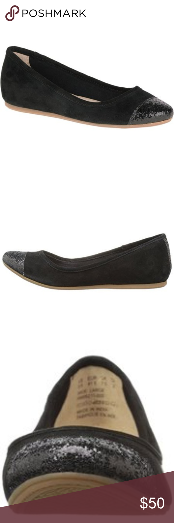 Hush Puppies Women's Happee Heather Flat, Black Boutique