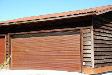 Rustic Corrugated Metal Garage Door Metal By Bridger Steel Metal Garage Doors Metal Garages Garage Doors