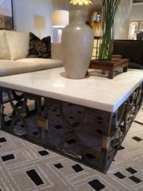 Bon Coffee Tables To Decorate Your Space White Onyx Stone Top Coffee Table    Mecox Gardens