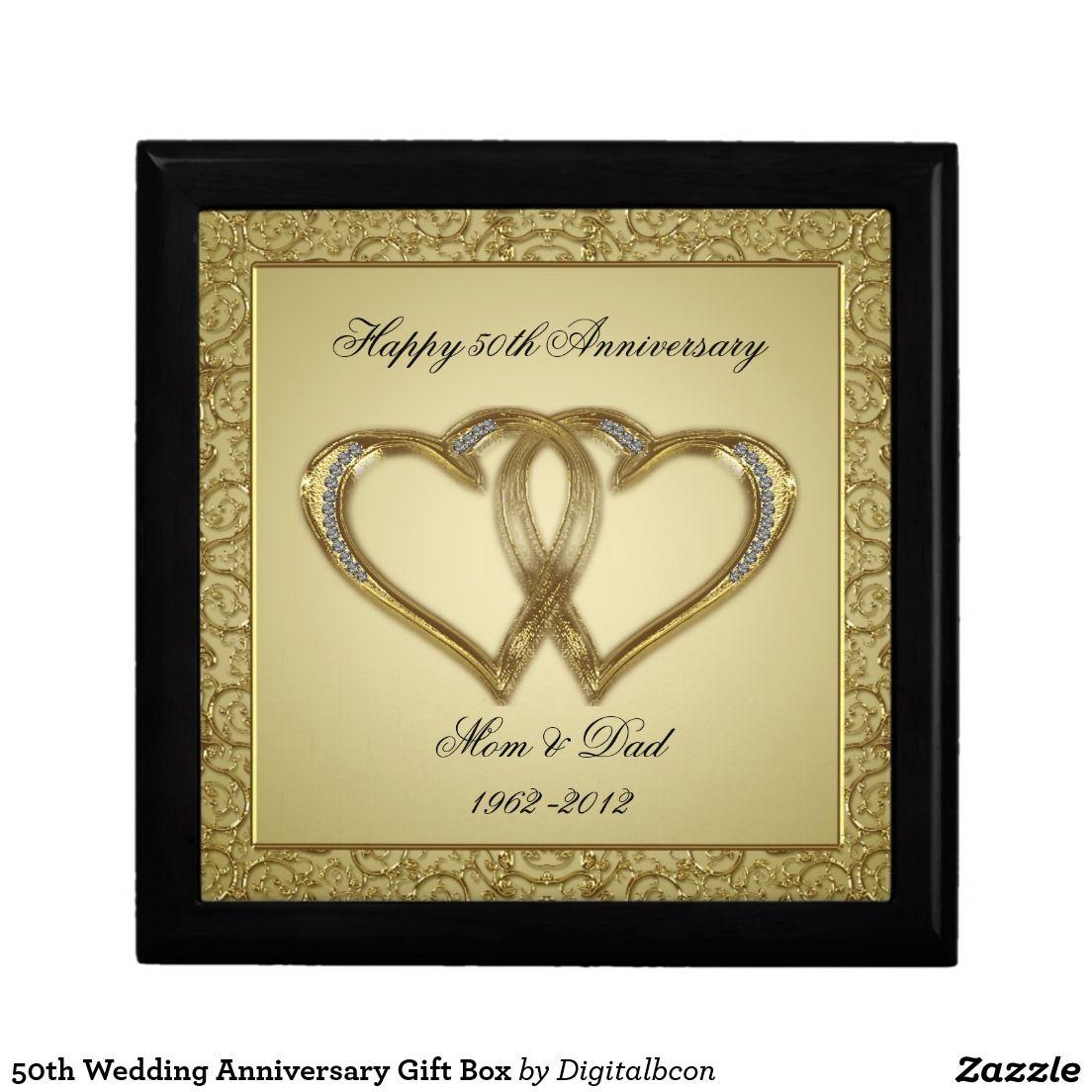 50th Wedding Anniversary Gift Box Zazzle Com 50 Wedding Anniversary Gifts Anniversary Gifts 50th Wedding Anniversary