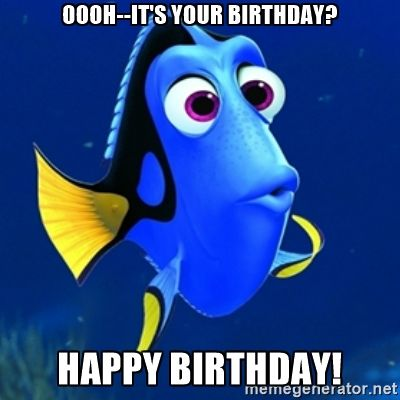 happy birthday meme gif dory - Google Search | birthday ...