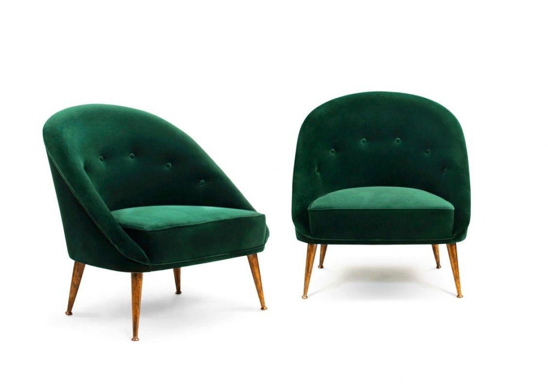 fauteuil moderne, fauteuil contemporain, fauteuil velours, velours ...