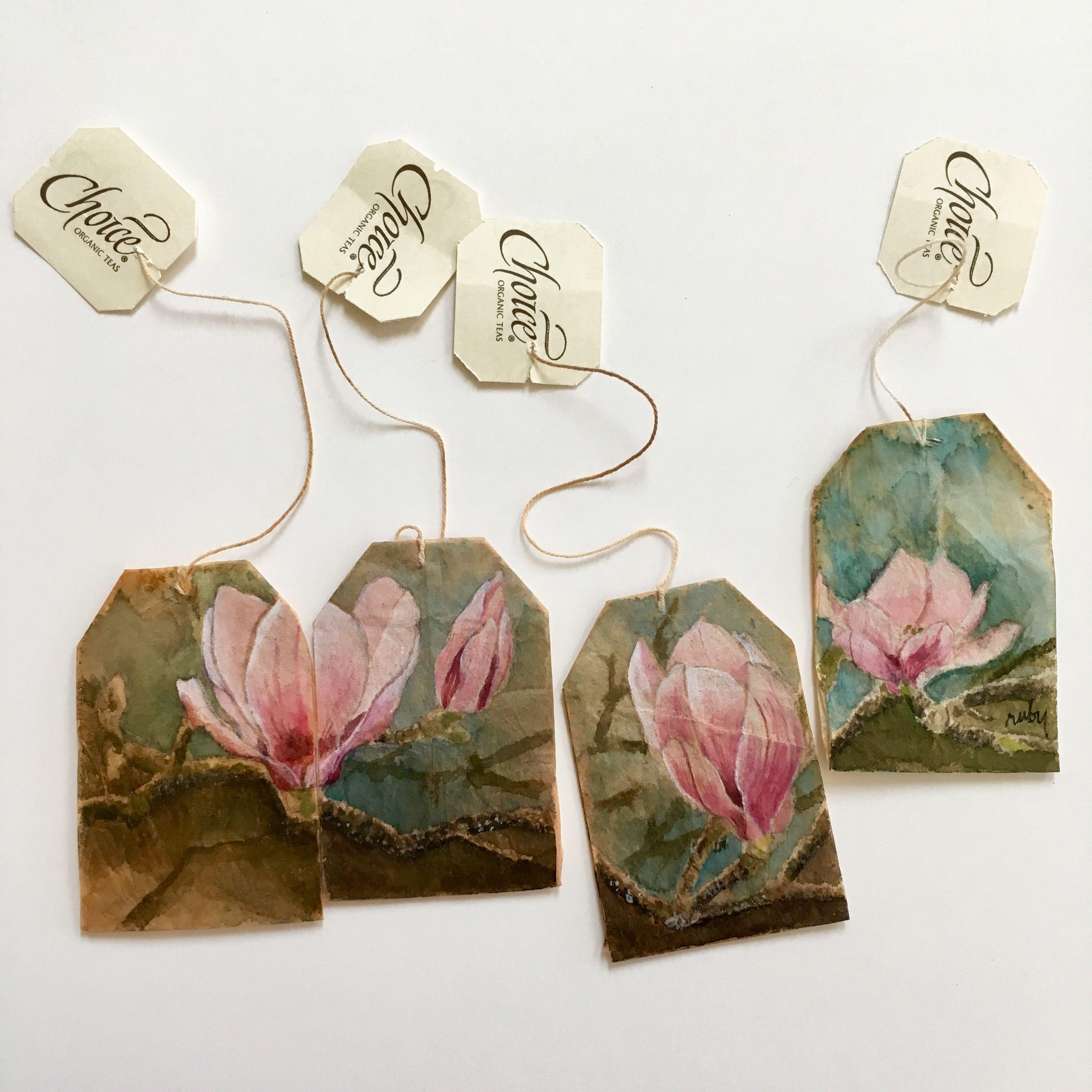 Spring Fling Www Rubysilvious Com Tea Art Tea Bag Art Paper Art