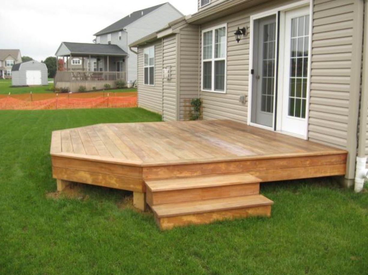 Small Decking Ideas: Low Deck, Small Backyard Decks