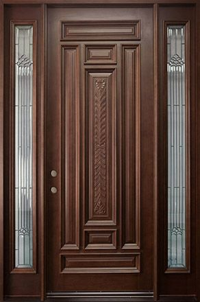 Wonderful Wooden Single Front Door Designs For Houses   Outside Wood Doors .