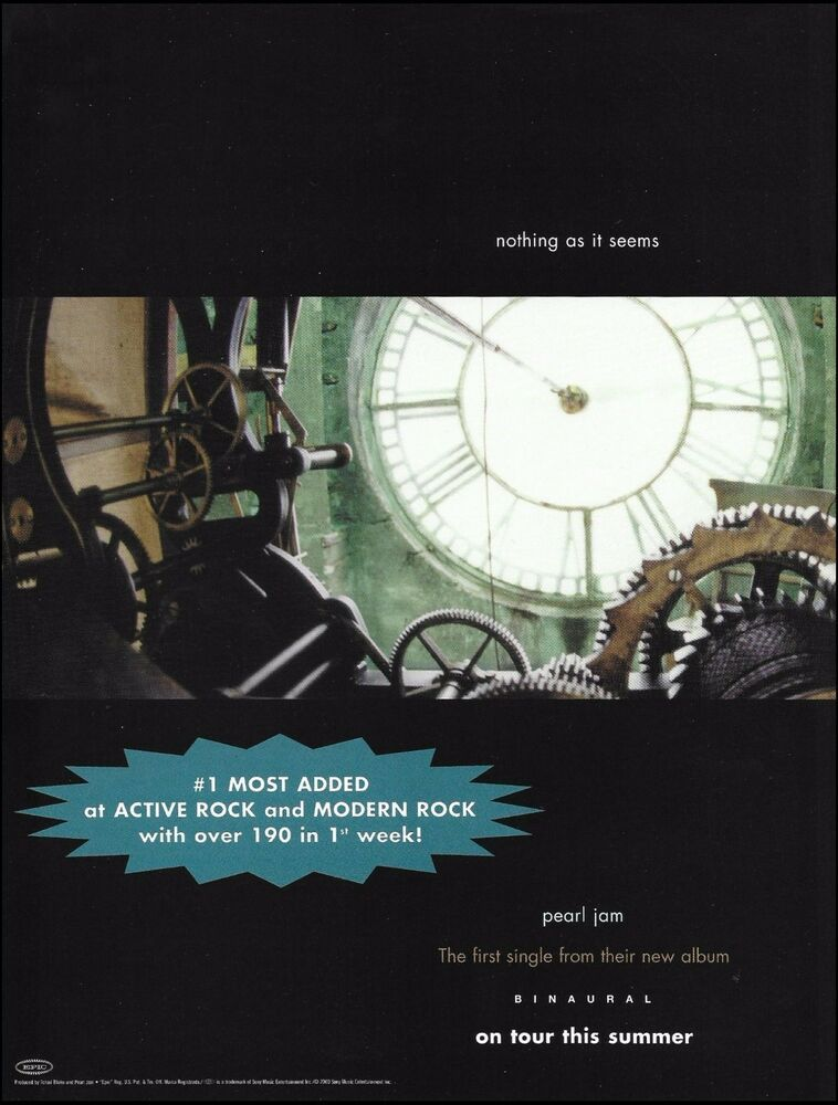 Details About Pearl Jam Binaural 2000 Nothing As It Seems Original Ad 8 X 11 Advertisement In 2020 Pearl Jam Enlarge Photos Pearls