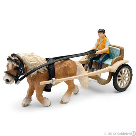 Pony Carriage Schleich Animal Figurine Toys Horses
