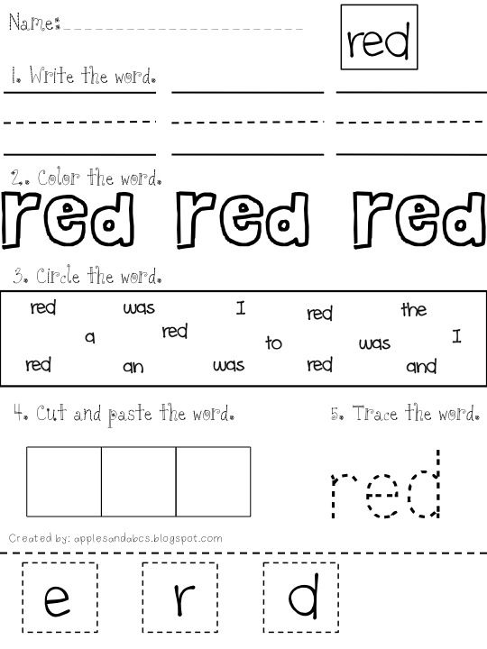 Common Core Classrooms: Introducing Sight Words With Color Words *free*