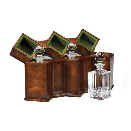 I pinned this 4 Piece Embleton Decanter & Case Set from the Jonathan Charles event at Joss and Main!